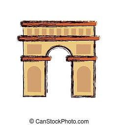 señal, arco, arquitectura, triunfo