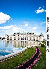señal, belvedere, es, un, edificio histórico, complejo, en, viena, austria, europa