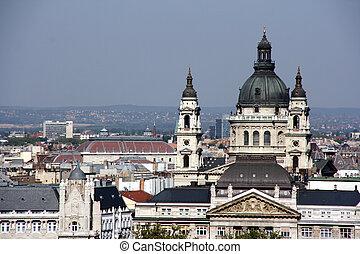 señal, budapest, -, basílica