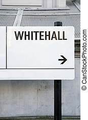 señal, calle, londres, westminster;, whitehall