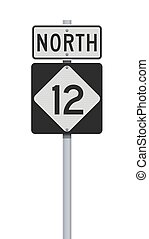 señal, camino, carolina del norte, carretera