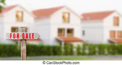 señal, casa, venta