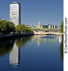 señal, ciudad, dublín, irlanda, famoso