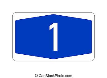 señal de autopista, a1, alemán, camino