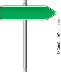 señal de dirección