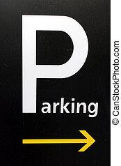 señal de estacionamiento