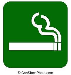 señal de fumar, área