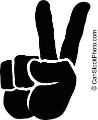 señal de mano, paz