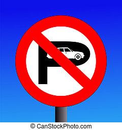 señal de no estacionar