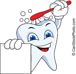 señal, diente, blanco