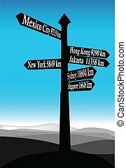 señal, dirección