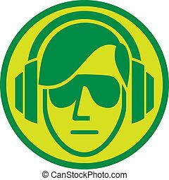 señal, dj, sign), (music