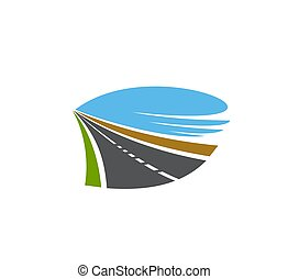 señal, entrada de coches, camino, carril, dos, o, camino, transporte