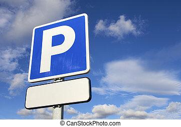 señal, estacionamiento