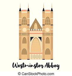 señal, famoso, londres, westmister, abadía