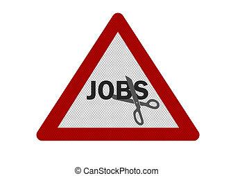 señal, foto, aislado, cuts\', realista, \'jobs, blanco