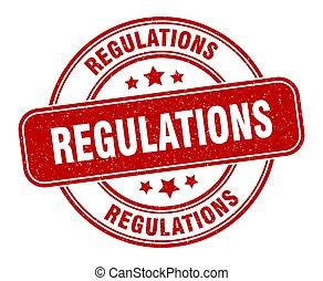 señal, grunge, label., redondo, regulaciones, stamp.