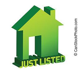 señal, hogar, verde, propiedad, verdadero
