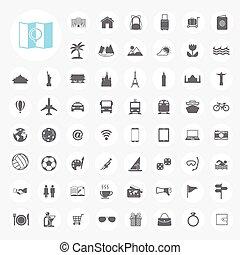 señal, iconos de viajar