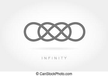señal, ilimitado, icon., simple, matemático