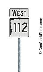 señal, indique camino, carretera, hampshire, nuevo