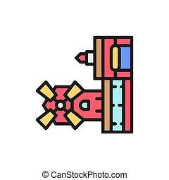 señal, línea, moulin, icon., parís, colorete, cabaret,...