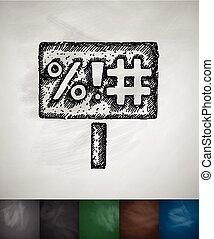 señal, lema, icono