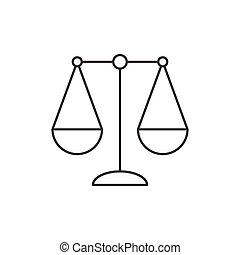 señal, libra, thi, icono, zodíaco, balance