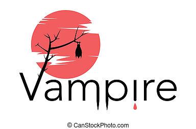 señal, luna, sangriento, vector, vampiro