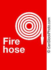 señal, manguera contraincendios