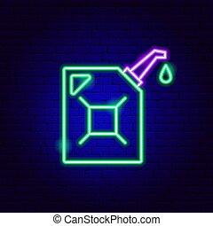 señal, neón, aceite