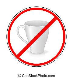 señal, prohibir, jarra