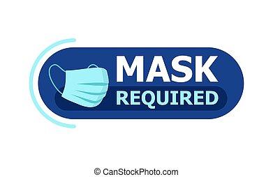 señal, requerido, advertencia, prevención, máscara