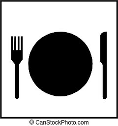 señal, restaurante
