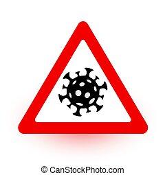 señal, salud, enfermedad, médico, coronavirus., concept., ...