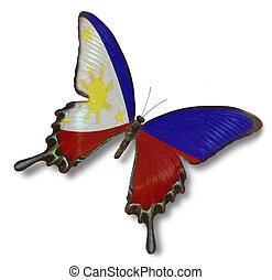 señalador de philippines, en, mariposa
