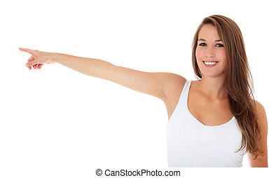 señalar con el dedo hacerlo/serlo, el, lado