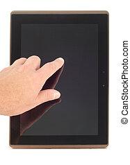 señalar con el dedo hacerlo/serlo, pantalla
