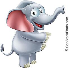 señalar, elefante