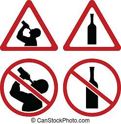 señales alerta, de, alcohol