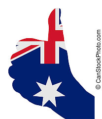 señales, australiano, mano