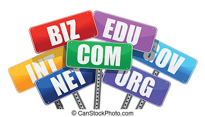 señales, dominio, concepto, nombres, internet