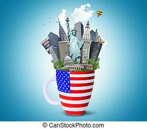 señales, estados unidos de américa