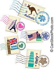 señales, sellos, conjunto