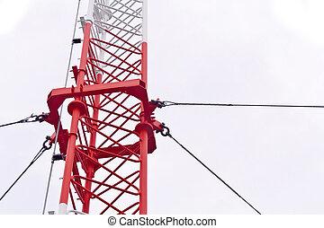 señales, torre, televisión, aislado, transmitir, 3g, ...