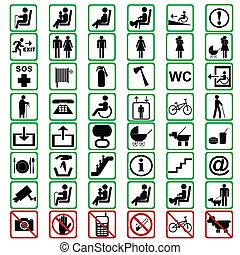 señales, tranportation, utilizado, internacional, medios