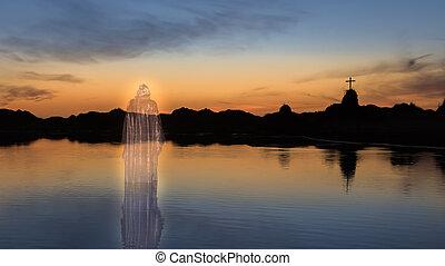 señor, jesús, transparente, cristo