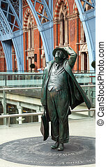 señor, juan, betjeman, estatua