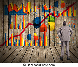 se, affärsman, graphs.