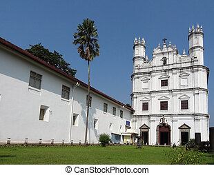 the Se Cathedral located in Old Goa, India